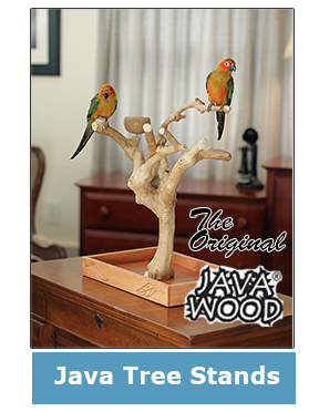 java tree bird stands