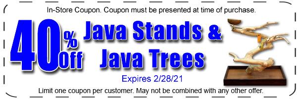 40% off java trees
